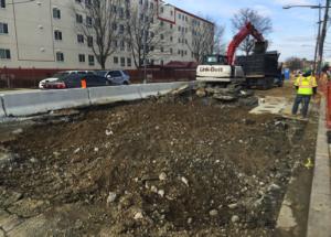 Continued roadway demolition on Minnesota Avenue between Ames Street & Blaine Street