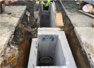 Installation of double water quality inlet, I-37 @ Minnesota  Avenue  & Clay Place