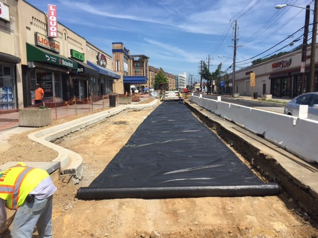 Approved subgrade with Geotextile Fabric Type ST, west side Minn Ave b/t Benning Rd & Dix St