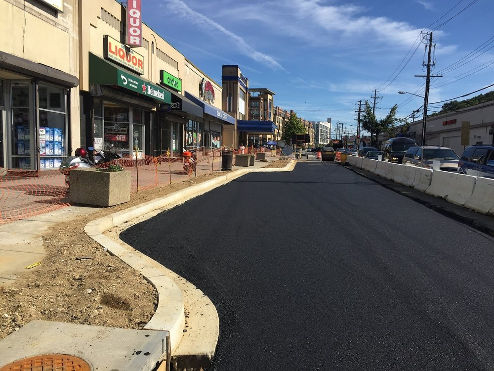 "5"" Superpave base asphalt layer, w. side Minn Ave b/t Benning Rd & Dix St"