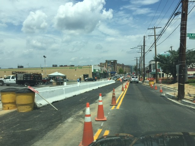 New traffic pattern to accommodate workzone @ west side of Minn Ave