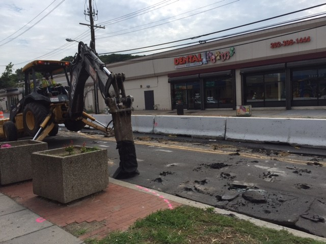 Existing roadway demolition, west side of Minn Ave b/t Benning Rd & Dix St