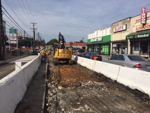 Demolition of existing roadway center lanes on Minn Ave b/t Benning Rd & Dix St