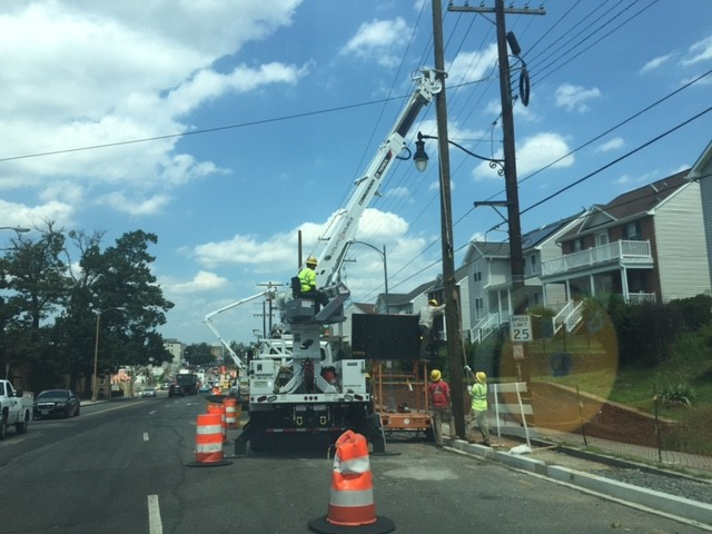 Installation of new wood Pepco pole @ the east side of Minn Ave b/t A St & Ridge Rd