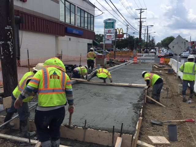 Construction of new bus pad – NB Minn Ave b/t Dix St & Benning Rd