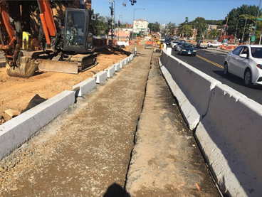 New granite curb with openings for Bioretention Cells, w. side Minn Ave b/t A St & Ridge Rd