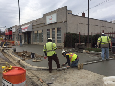 Installation of new sidewalk, west side Minn. Ave. in front of Trusted Health Plan Center