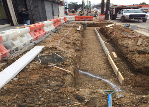 Excavation and formwork for LID 59, east side b/t Dix St & Benning Rd.