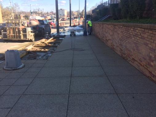 New sidewalk, E/S b/t A St. & Ridge Rd.