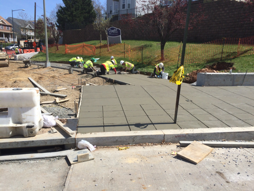 New sidewalk @ the SE corner of Minn. Ave. & Ridge Rd.