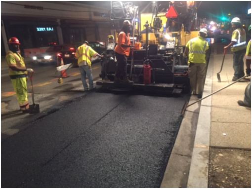 Final surface paving @ SB lanes b/t Benning Rd & Dix St