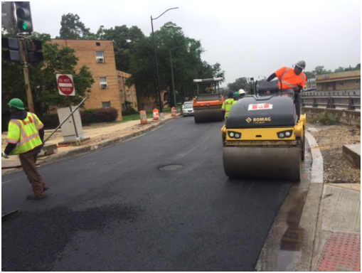 Final surface paving @ Ridge Rd., west of Minn. Ave.