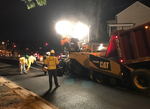 Final surface paving @ Minn. Ave. & A St.