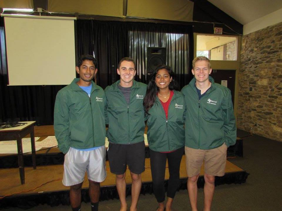 Look at our returning senators, Noah Mudd, Akshitha Padigela, and JW Van Der Schans, showing off their Eco green Student Government jackets at Retreat this year.