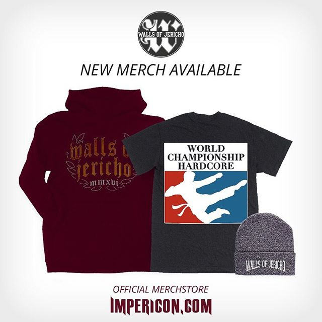 Check out our new merch over at Impericon! #wallsofjericho #impericon #merch