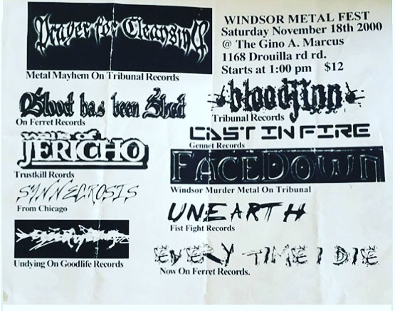 Another blast from the past! #wallsofjericho #etid #unearth #bloodhasbeenshed #oldschool