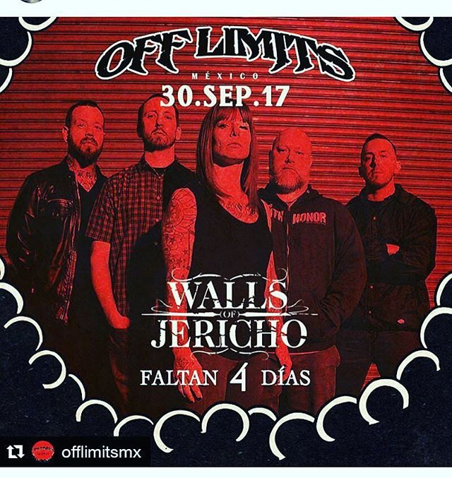 Saturday we are going to CRUSH @offlimitsmx get ready Mexico #wallsofjericho #hardcore
