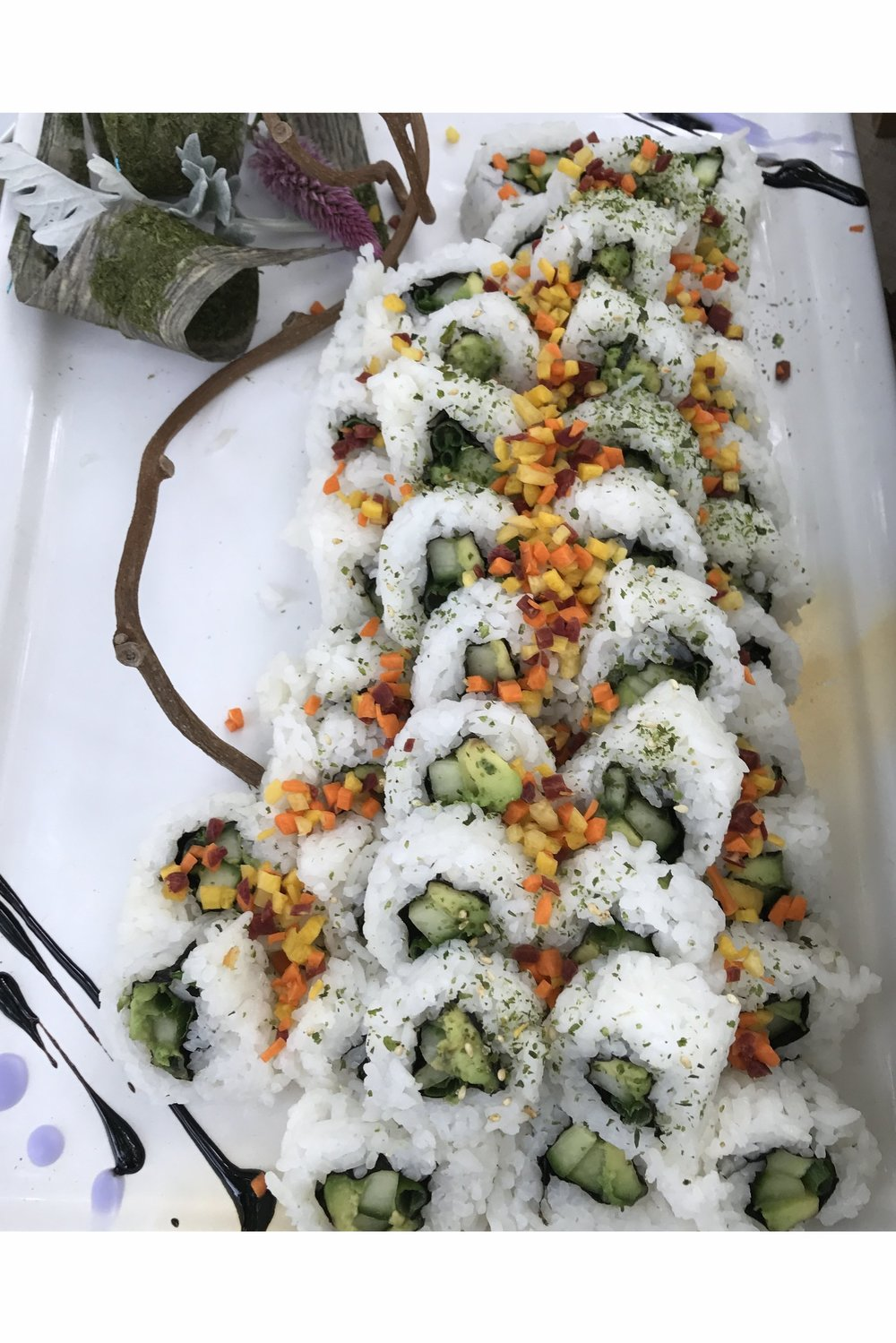 Cucumber and Avocado Roll