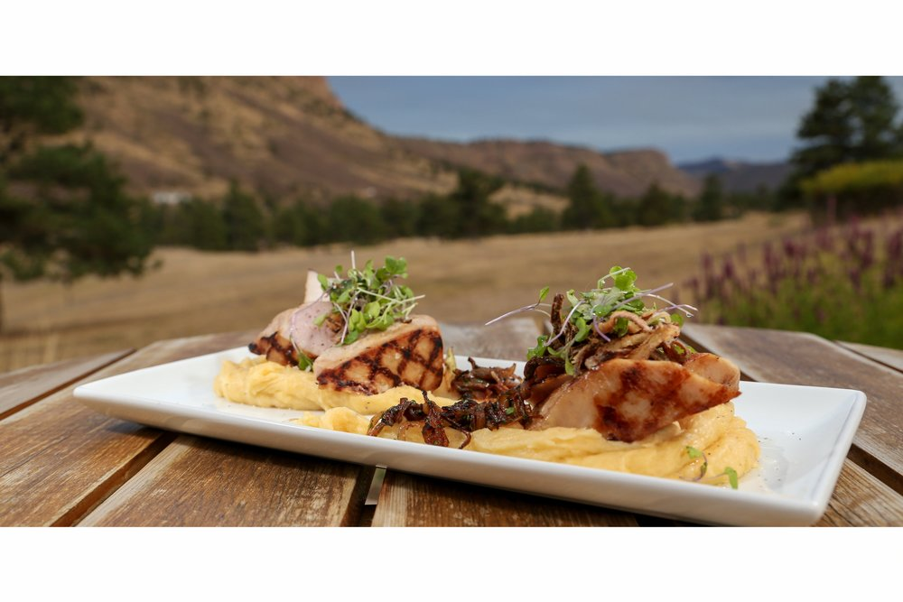 Apple Cider Brined Pork Tenderloin with Cheddar Mashed Potatoes