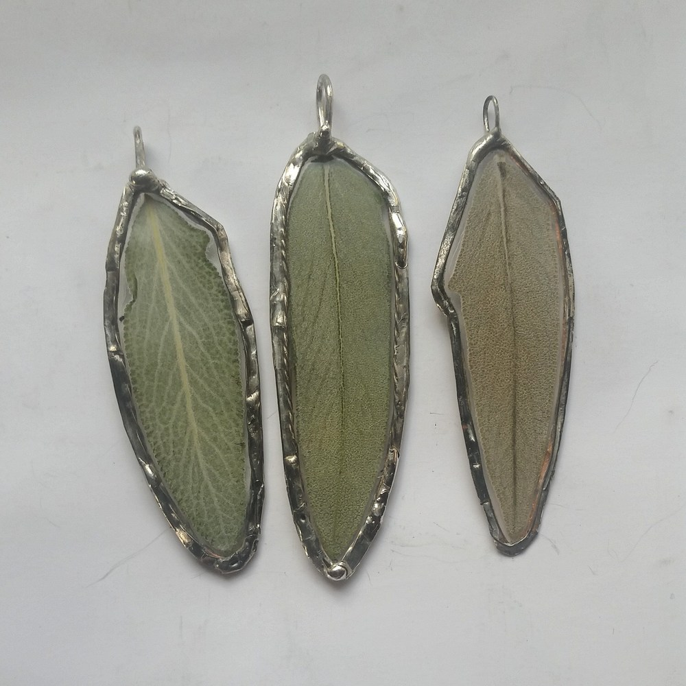 Sage Leaf Pendants    Sage is worn for Immortality, Longevity, Wisdom, Protection & Wishes!
