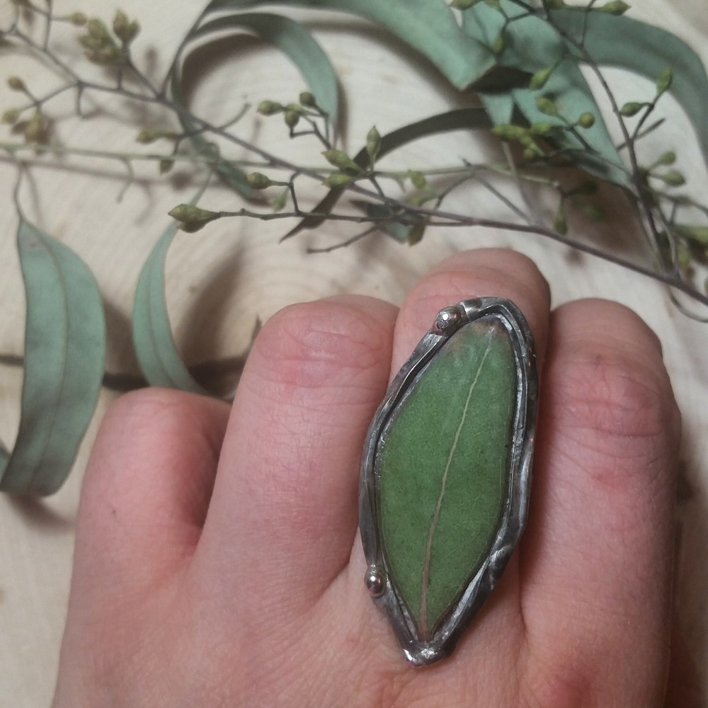 Eucalyptus Leaf Ring