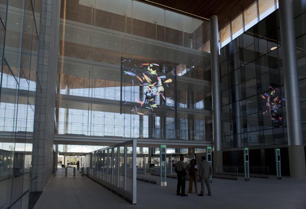 Full view of atrium