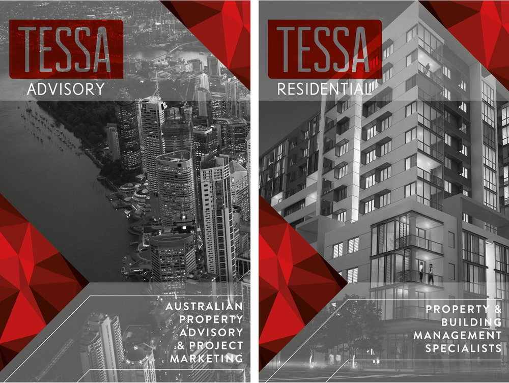 Tessa Advisory and Tessa Residential Brochure Covers