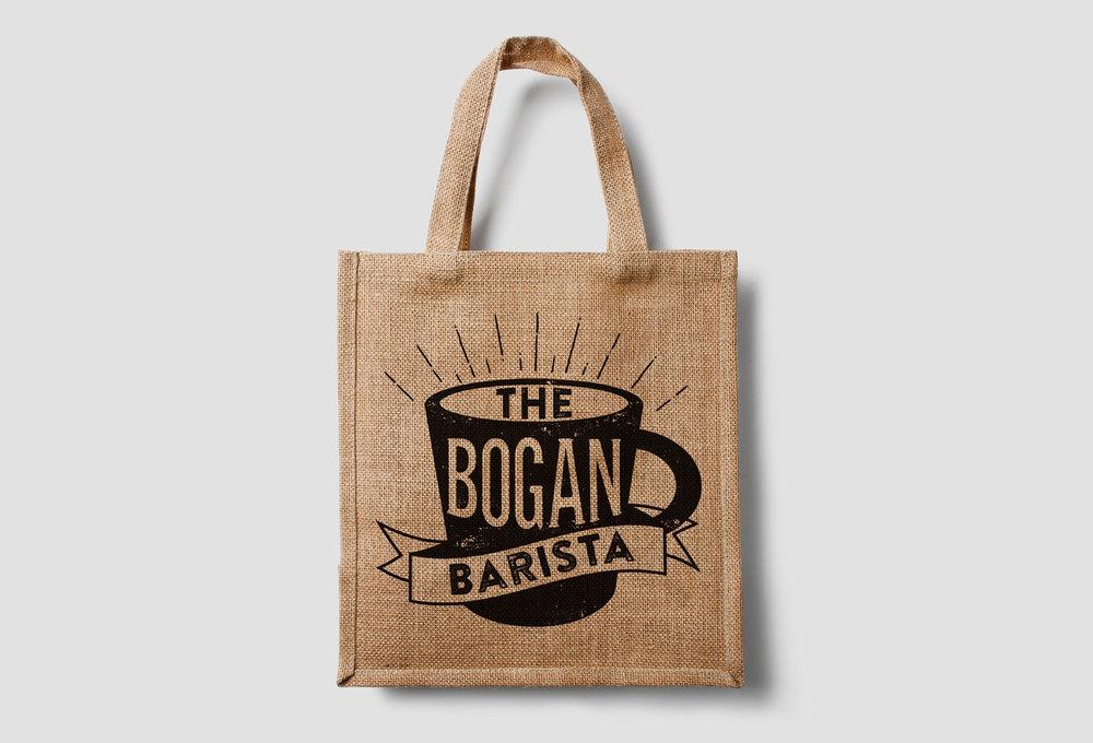 The B  ogan Barista tote bag