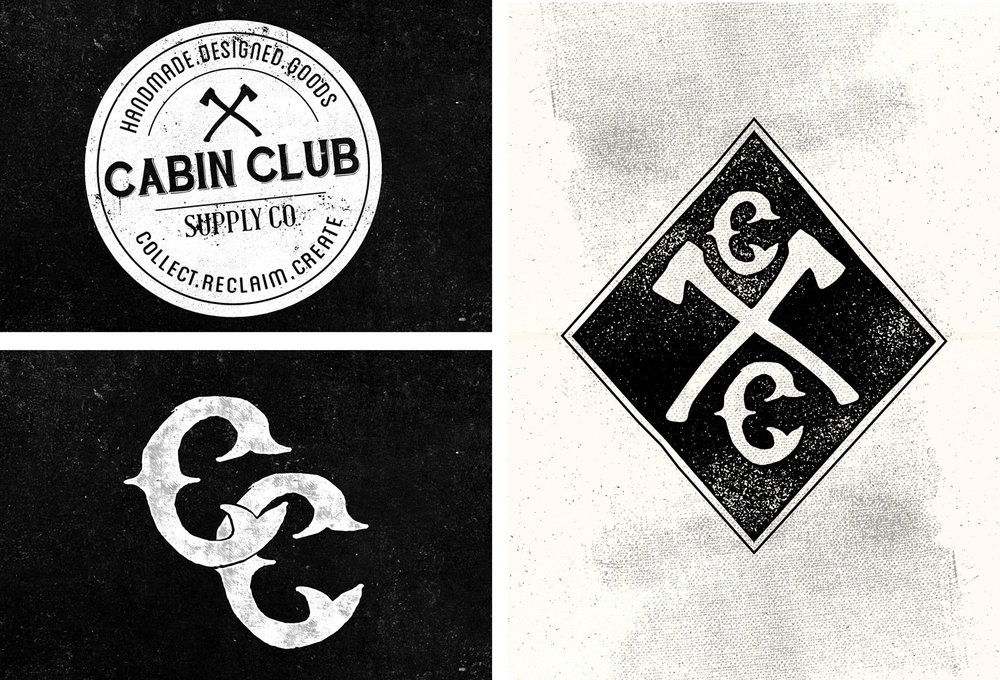 Cabin Club logo and branding elements
