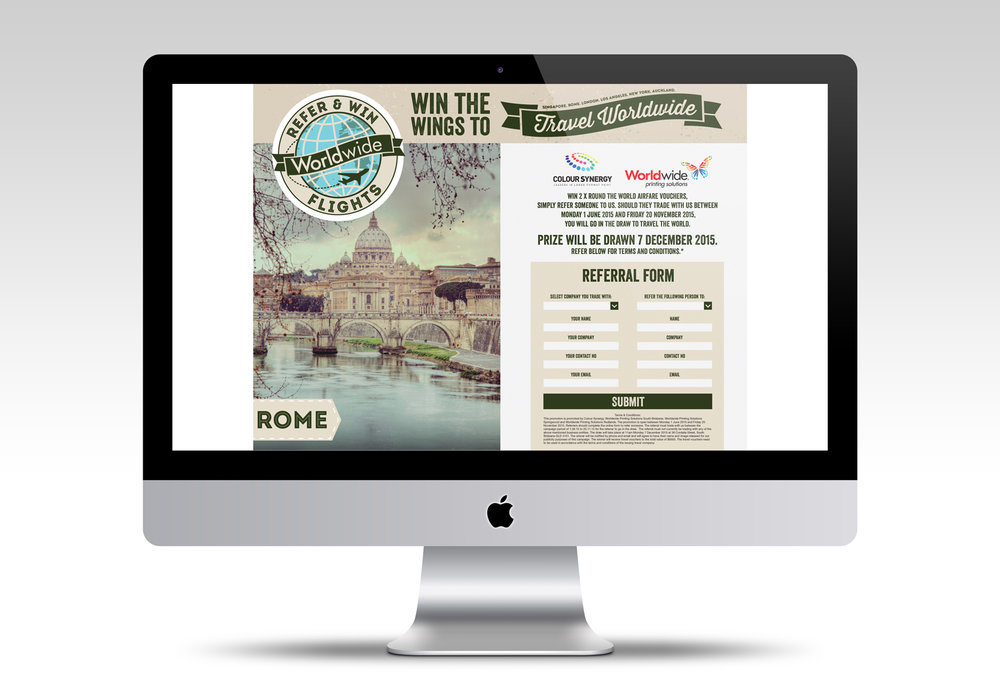 Worldwide Printing | Refer and Win Campaign Website