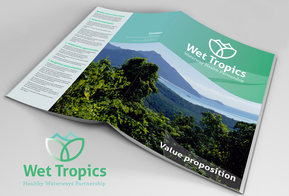 Queensland Government   Logo and Brochure Design - Wet Tropics Waterway Health Partnership