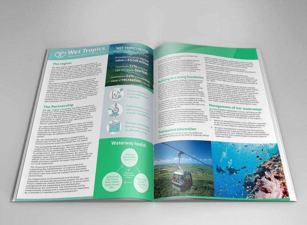 Qld Government   Logo and Brochure Design - Wet Tropics Waterway Health Partnership