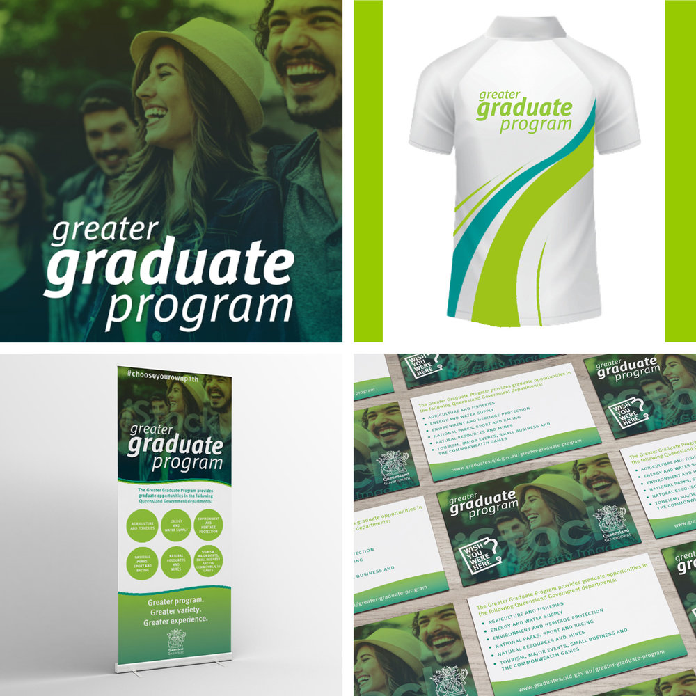 Qld Government   Greater Graduate Program Branding and Printed Collateral