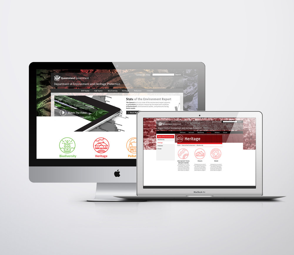 Qld Government   State of the Environment Report Website Design