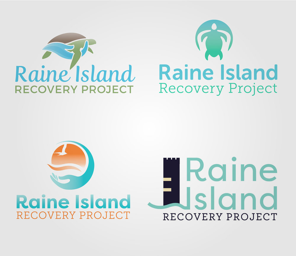 QLD Government   Raine Island Recovery Project Logo Concepts Top Right: Final Chosen Concept