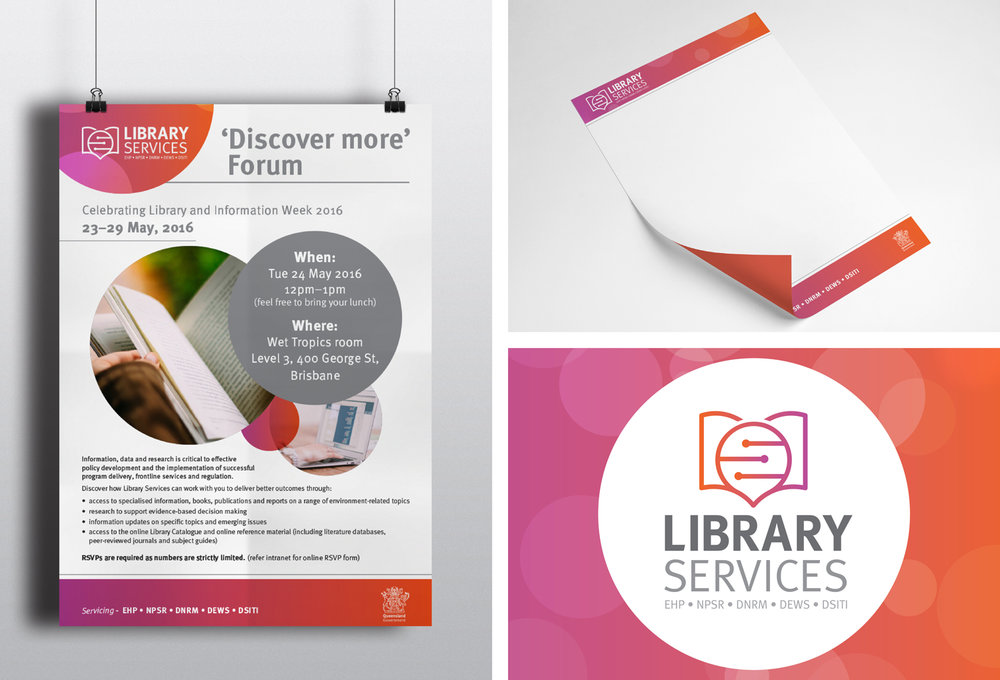 Qld Government   Library Services Branding