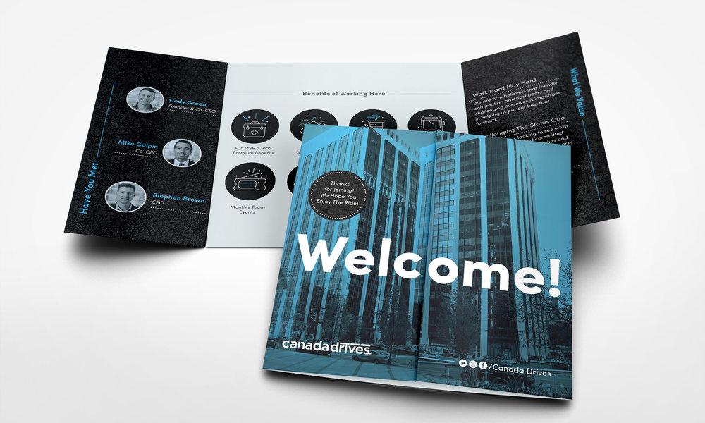 Square gatefold print design