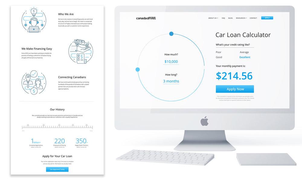 Website design - illustration and UI