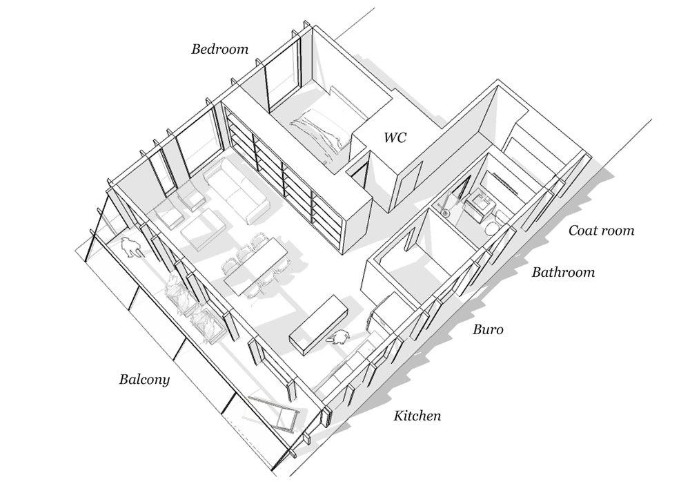 Seniors apartment 1.5 BR