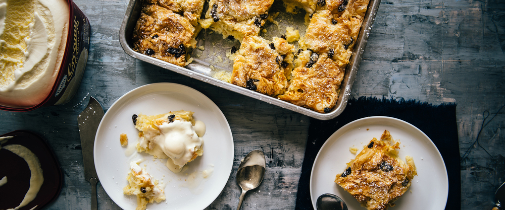 Fillo & Butter Pudding