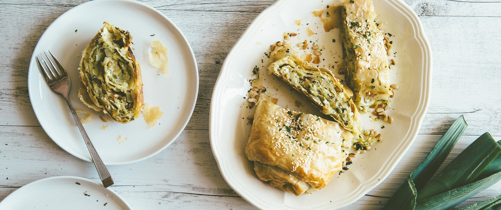 Leek and Feta Roulade