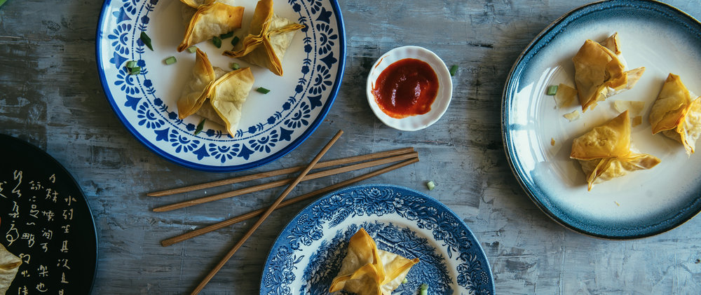 PORK & SHIITAKE FILLO POT STICKERS