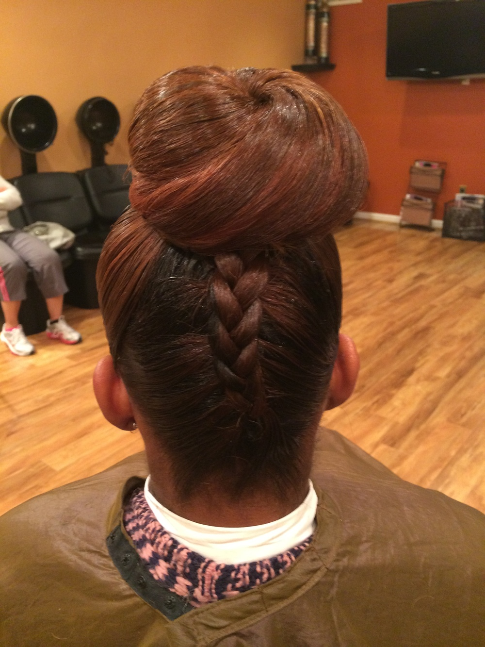 Up-do with Braid detail. Natural hair