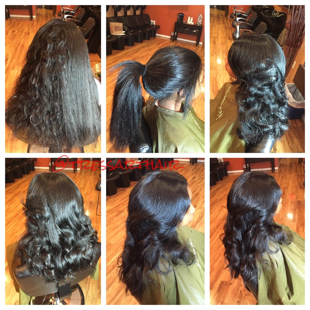 Versatile Sew-in extensions (indique hair company, pure wavy.