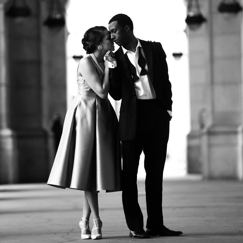 Engagement pictures. Audrey Hepburn theme. Photography by Derrel Todd @dtodd