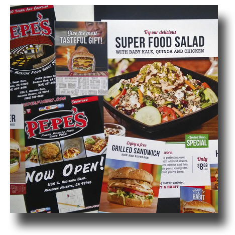 Offset Printing: Menus and Advertisments