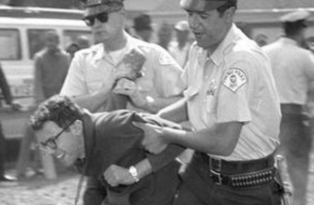Bernie Sanders protesting for the Civil Rights Movement