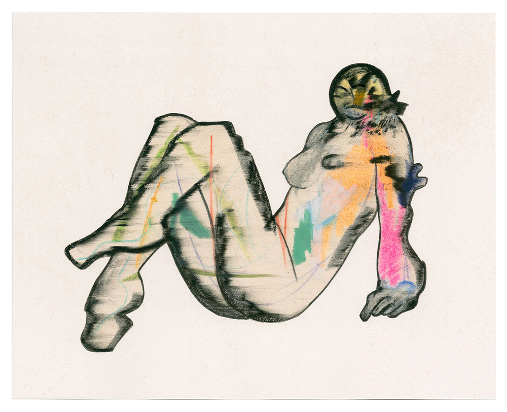 "Jason Brinkerhoff, Untitled, graphite, colored pencil, wax pastel, and oil pastel on paper, 8 1/8 x 10 1/8"", 2016"