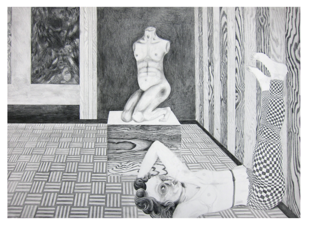 "Stefanie Popp, The Luminous Flesh of Giants, pencil on paper, 19.75 x 27.5"", 2011"
