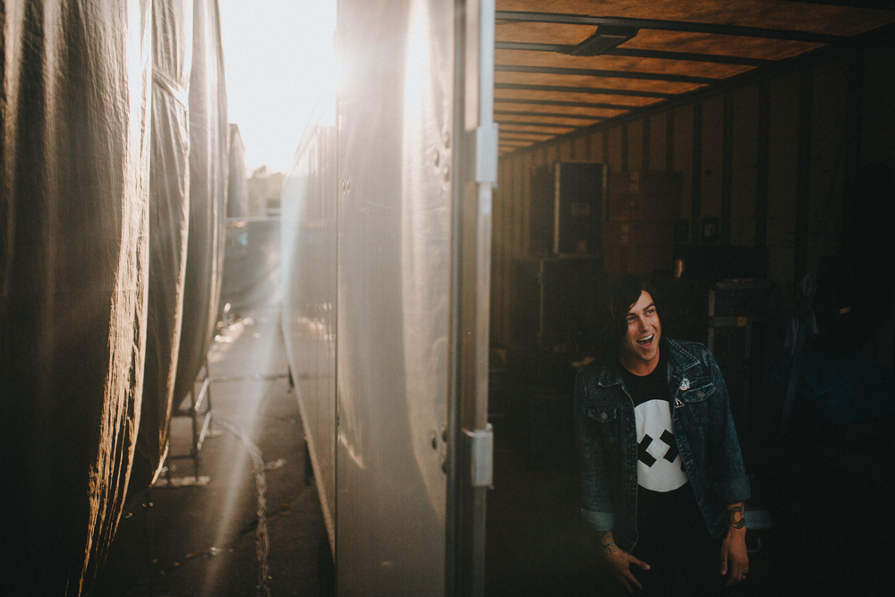 Darien Center, NY.  I enjoy watching Kellin warmup. It goes from incredible vocal runs to singing along to whoever's playing before us to just hanging out.  A genuinely fun person to be around.